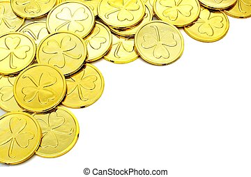St Patricks Day gold coin border - St Patricks Day gold coin...
