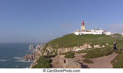 Cabo da Roca Lighthouse complex - pan Atlantic Ocean - Cabo...