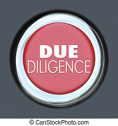 Due Diligence Car Start Button Research Company Merger Acquisiti