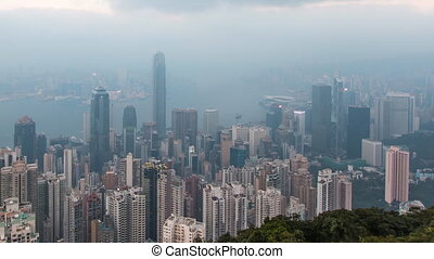 Day To Night HongKong CityScape