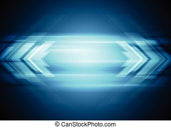 Abstract blue technology background with arrows