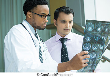 Radiologic results - Closeup portrait of intellectual...