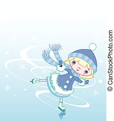 Ice girl - Cute little girl ice skater