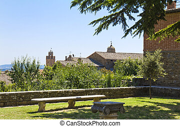Montalcino - The beautiful view of the landscape of the...