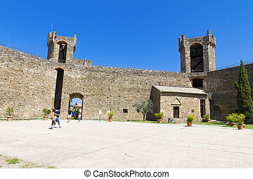 Montalcino - The beautiful view of the Montalcino Castle in...