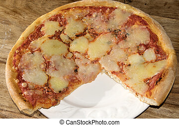pizza - typical neapolitan margherita pizza with tomato...