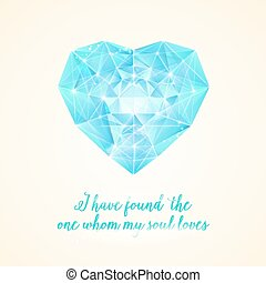 Diamond heart for your design.