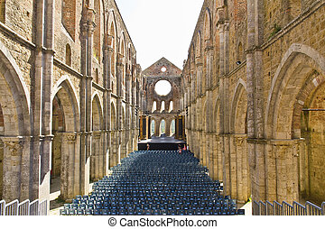 San Galgano - The ancient Abbey of San Galgano is a mirable...