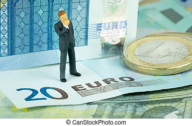 Finacial Doubts over the Euro - Financial concept of a...