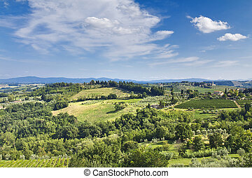 San Gimignano - Classic view of Tuscany from San Gimignano