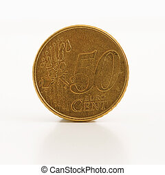 Euro Cent coin isolated on white background