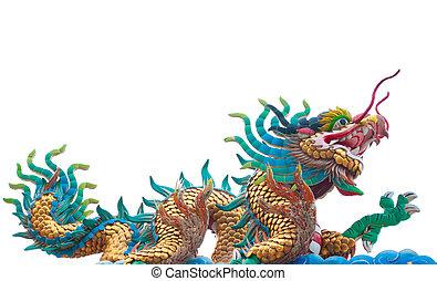dragón, chino,