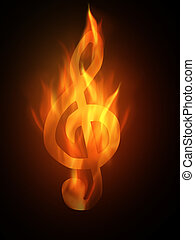 Burning - The hot burning contour of a clef