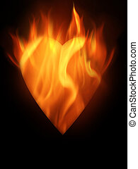 Burning - The hot burning contour of a heart