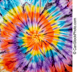 tie dye - Abstract tie dyed fabric background