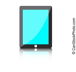 Illustration of modern technology device - computer tablet -...