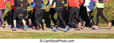 women during the cross country race
