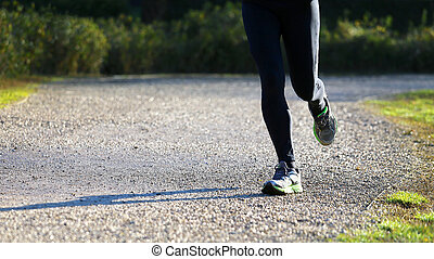 runner in the Park during the cross country race