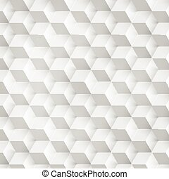 Vector Abstract geometric shape from gray cubes White...