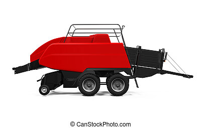 Agricultural Baler Isolated - Agricultural Baler isolated on...