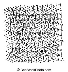 abstract painting triangles texture pencil isolated on white...