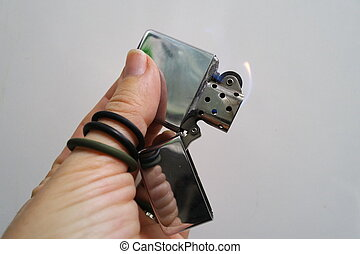 lighter in my hand - petrol lighter in my hand