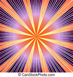 Abstract  background with lilas and pink rays (vector)
