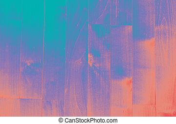 Gradiented parquet texture - Turquois-purple-peach...