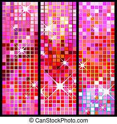 disco background - disco banners, colorful, shiny party...