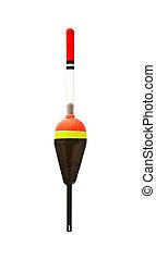 Fishing bobber - Red fishing bobber isolated on white...