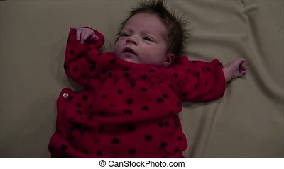 Newborn Baby Hiccup - Lovely newborn baby really needs a hug...