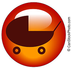 button or icon for a baby pram or stroller