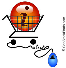 shopping on the internet for information - illustration