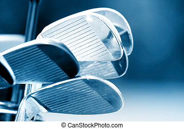 Golf Clubs - New golf clubs in blue color tone