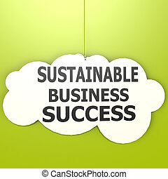 Sustainable business success image with hi-res rendered...