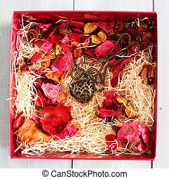 Heart - Photo of iron heart in a gift box