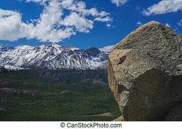 Los Glaciares National Park - Picturesque view of sunlit...