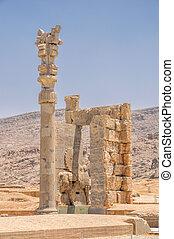 Persepolis - Ruins of persian capital Persepolis in current...
