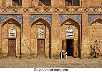 Khiva - Facade of house in Khiva, Uzbekistan