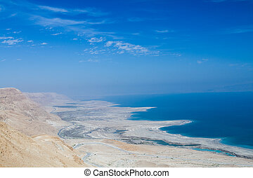 Beautiful coast of the Dead Sea - Beautiful photo coast of...