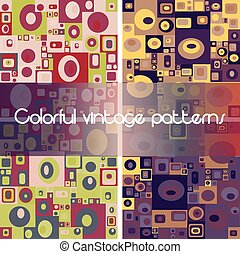 Set of 4 abstract geometric seamless patterns
