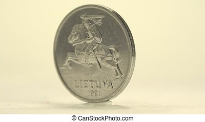 Lithuanian 2 Centai - Closer look of this standing c centai...