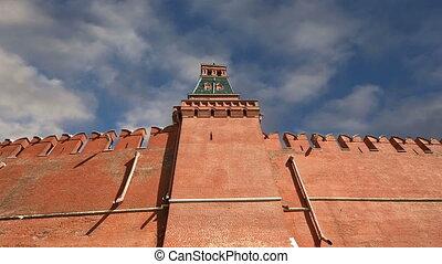 Kremlin Wall -- Moscow Kremlin - Kremlin Wall that surrounds...