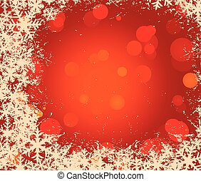 christmas vector background with snowflakes