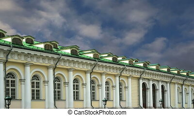 Manege Exhibition Hall in Moscow Russia time lapse