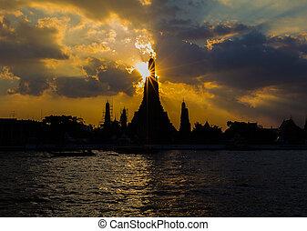 Sunset at Arun Temple,