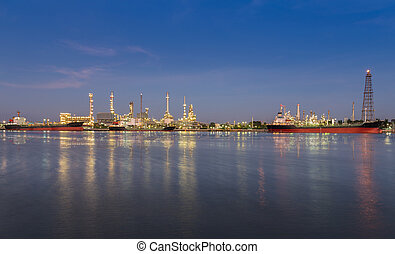 Panorama of Oil refinery