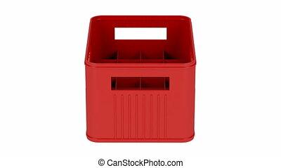 Red plastic crate
