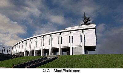 War memorial in Victory Park,Moscow - War memorial in...