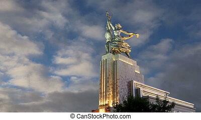 monument Rabochiy i Kolkhoznitsa - Famous soviet monument...